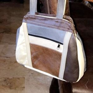 Handbags - Beautiful leather patched purse